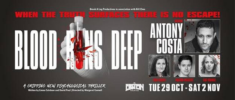 Blood Runs Deep, Antony Costa, Theatre, TotalNtertainment, Liverpool
