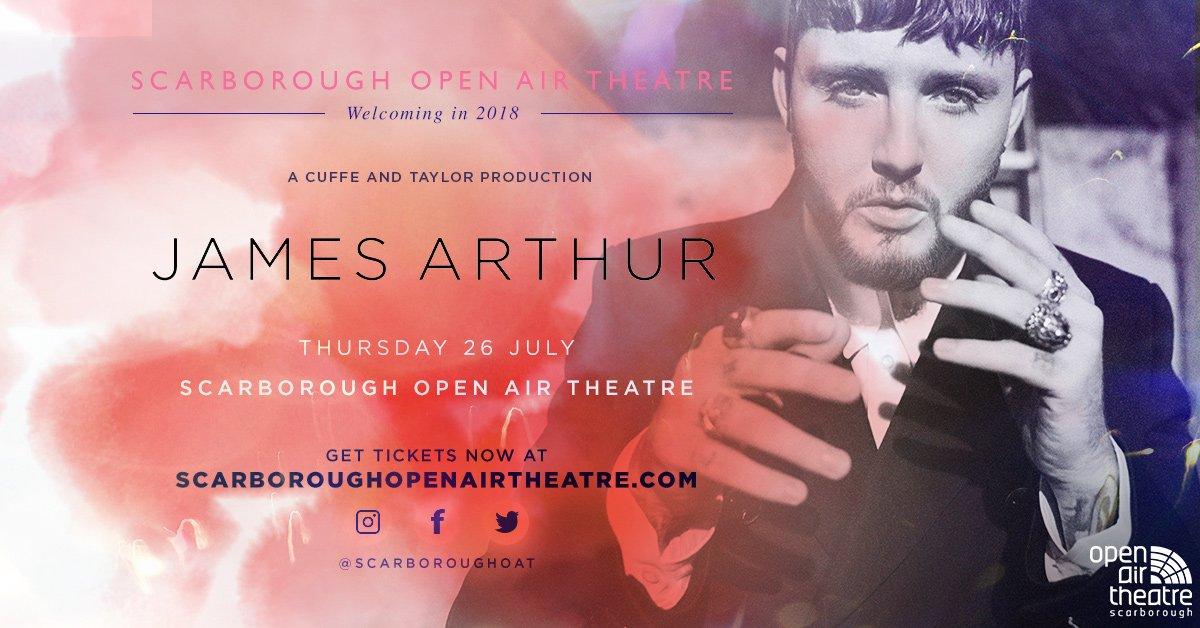 James Arthur will return to Scarborough Open Air Theatre