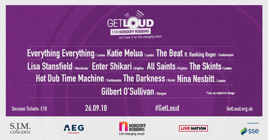 Nordoff Robbins Announce Get Loud 2018