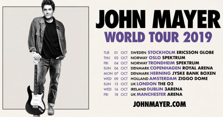 John Mayer announces European leg of 2019 World Tour
