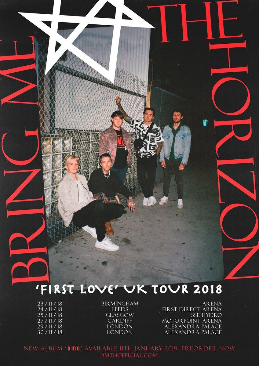 Bring Me The Horizon, Leeds, TotalNtertainment, Tour, amo