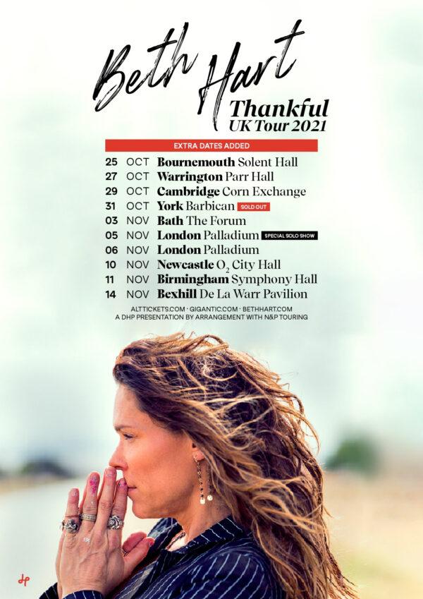 Beth Hart, Music News, Tour, TotalNtertainment, Thankful