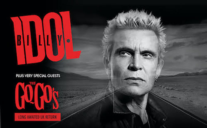 Billy Idol, The Roadside Tour, 2022, Tour News, Music News, TotalNtertainment, The Go Go's