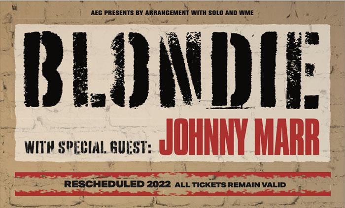 Blondie, Johnny Marr, Tour News, Music News, TotalNtertainment