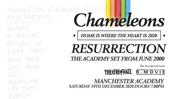 Chameleons, Music, Home Is Where The Heart Is, Manchester, TotalNtertainment