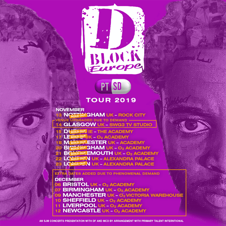 D-Block Europe, Music, Tour, Sheffield, TotalNtertainment