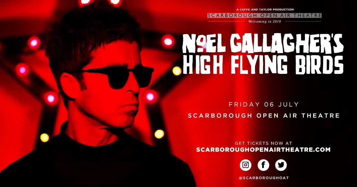 Noel Gallagher, Scarborough, Open Air, totalntertainment, music