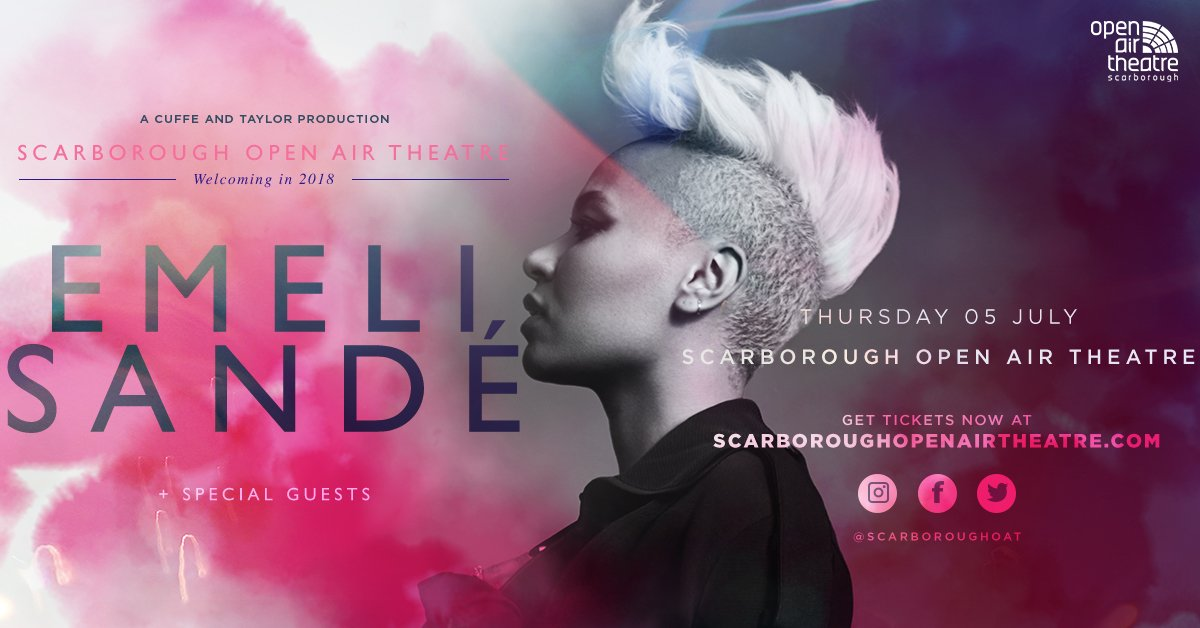 Emeli Sande, totalntertainment, music, Scarborough, Open Air Theatre