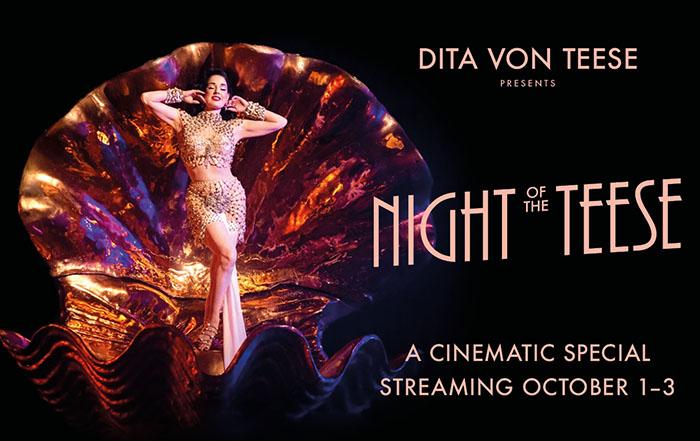 Dita Von Teese, Theatre News, TotalNtertainment, Dance, Night of the Teese