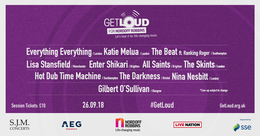 Get Loud, Nordoff Robbins, Music, Charity, TotalNtertainment