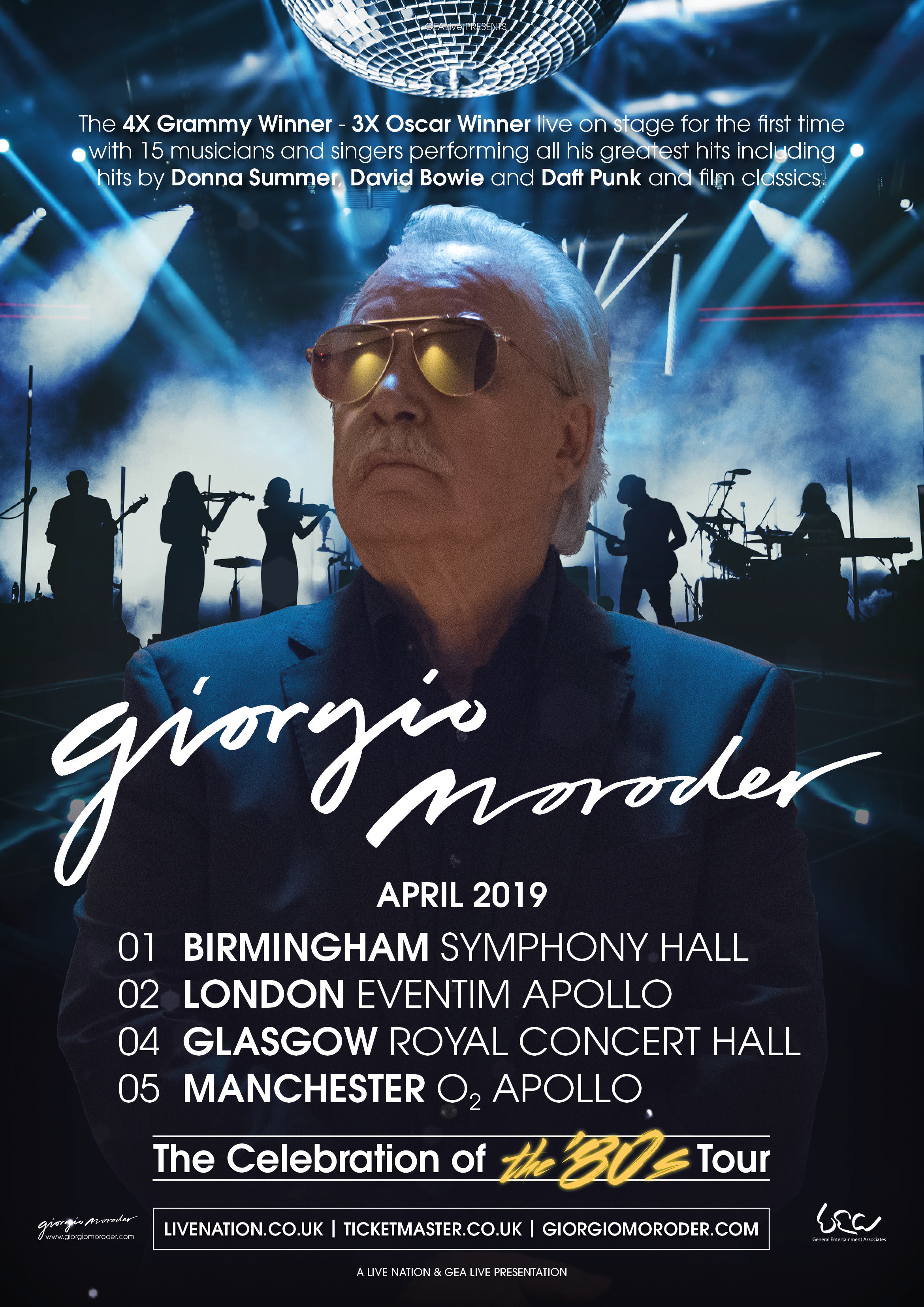 Giorgio Moroder, Tour, Manchester, TotalNtertainment, Music