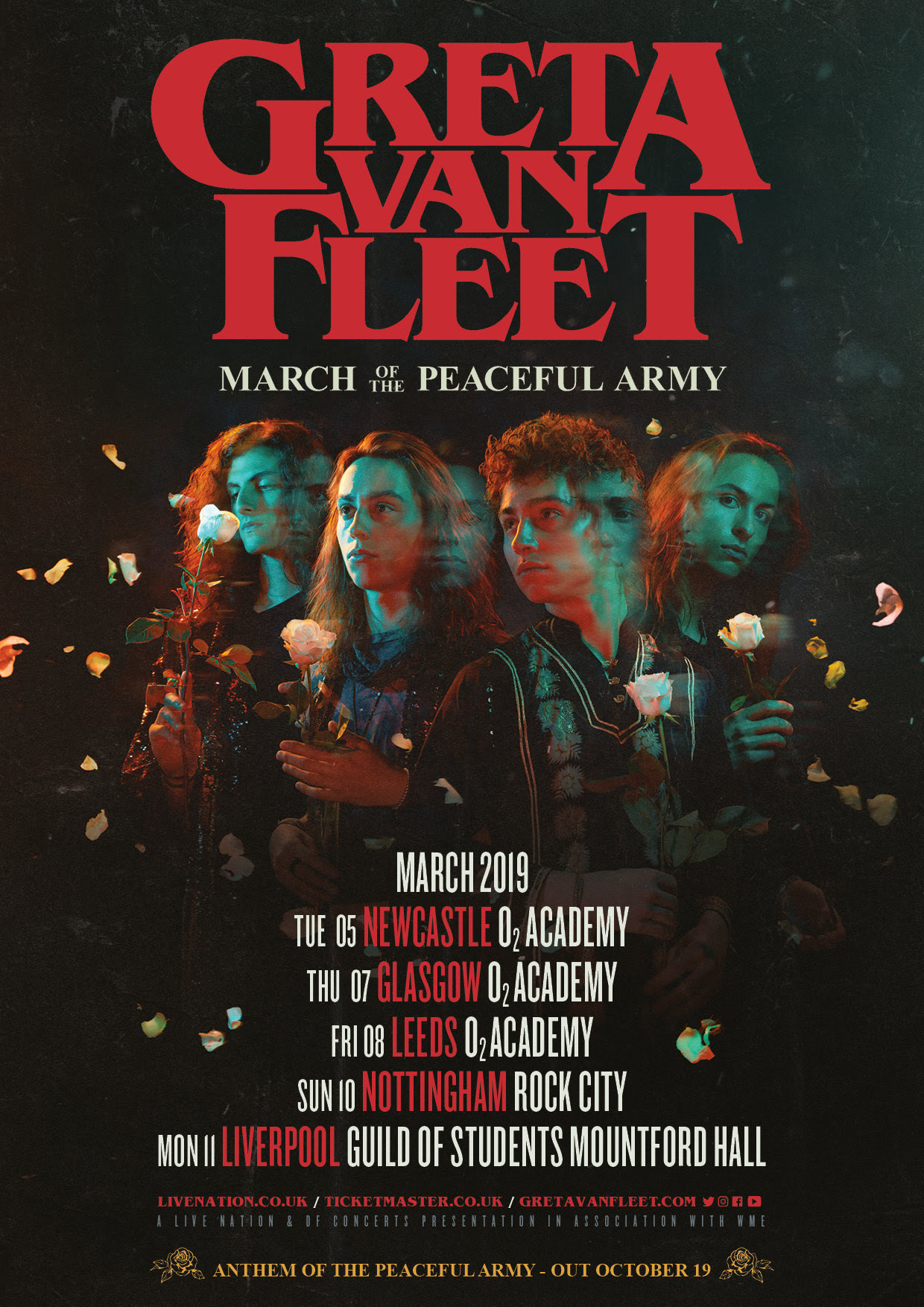 Greta Van fleet, Tour, TotalNtertainment, Leeds, Music