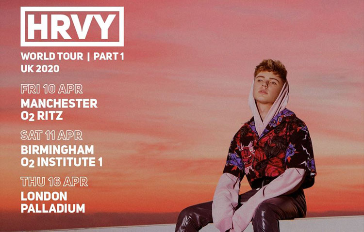 HRVY, Tour, Manchester, TotalNtertainment, Music