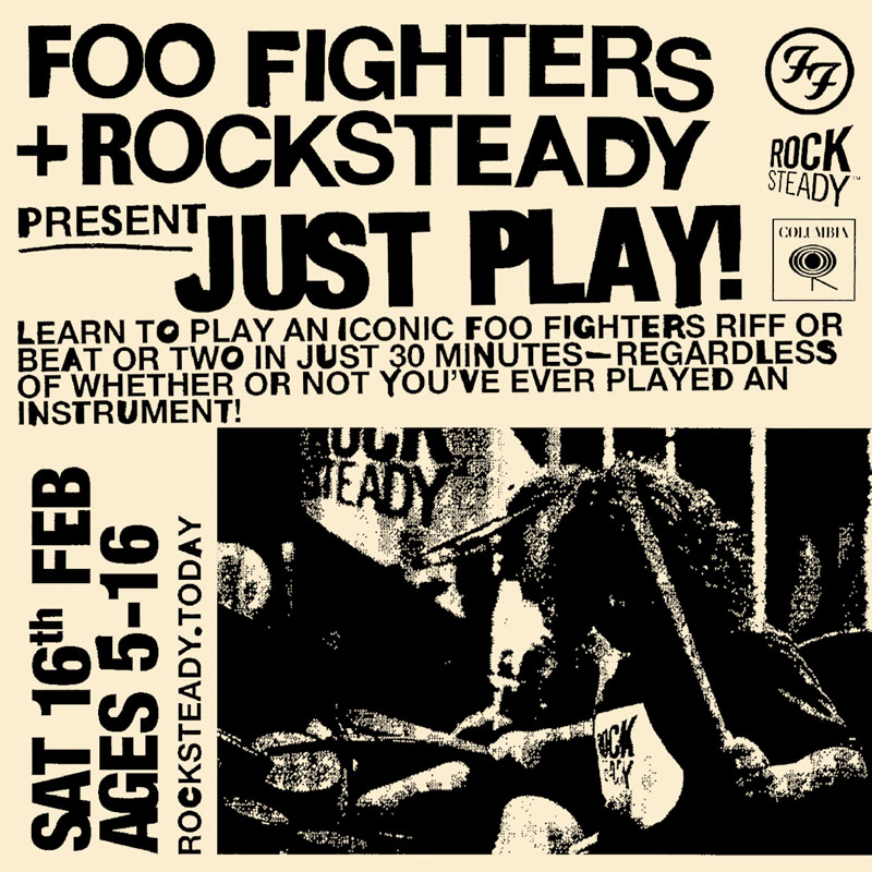Just Play, Foo Fighters, Rocksteady, Music, TotalNtertainment