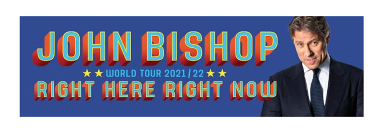 John Bishop, Comedy, World Tour, TotalNtertainment