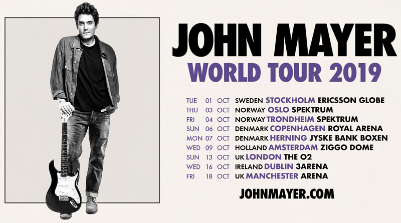 John Mayer, World Tour, Manchester, TotalNtertainment, Music