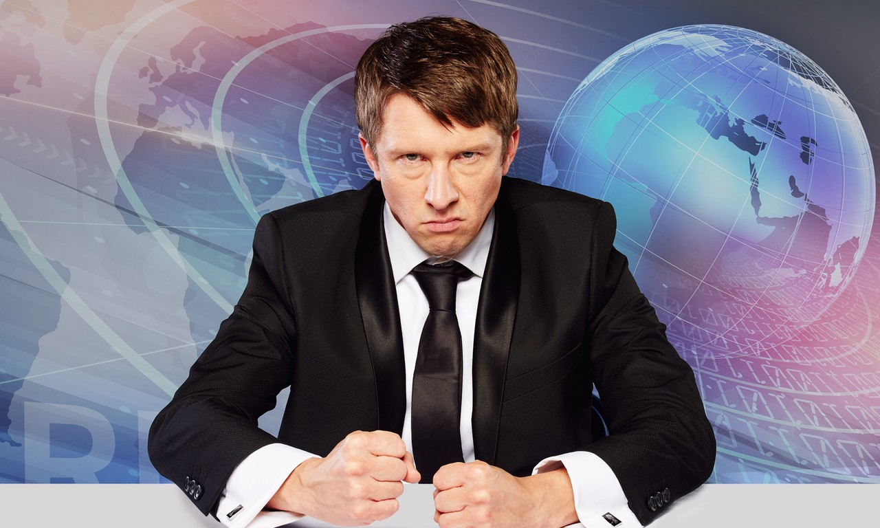 Jonathan Pie gives an interview ahead of his 2018 spring tour