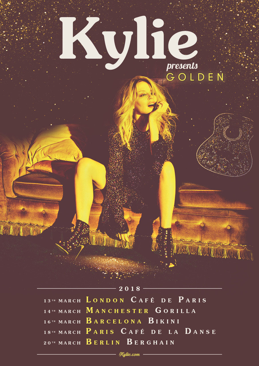 Kylie Mingoue, manchester, totalntertainment, Golden, mini tour