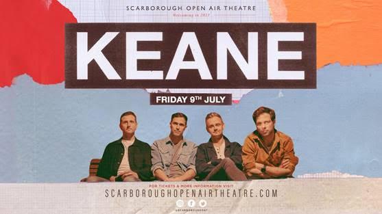 Keane to play headline show at Scarborough