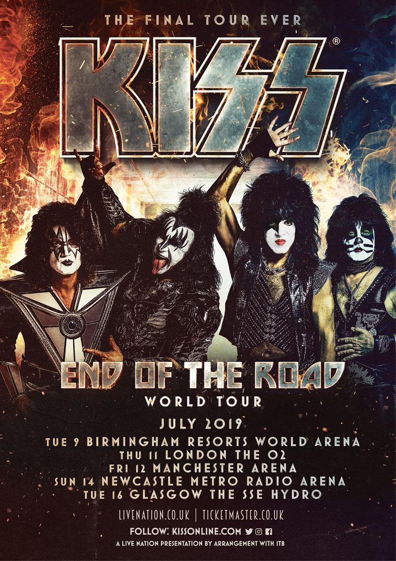 Kiss, World Tour, TotalNtertainment, Manchester, Music