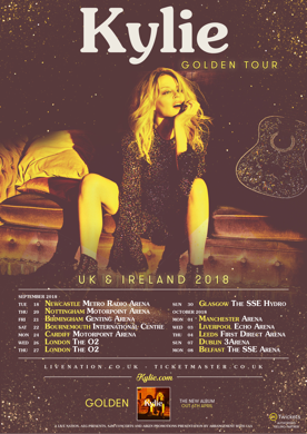 Kylie Minogue, Golden, tour, totalntertainment, Manchester