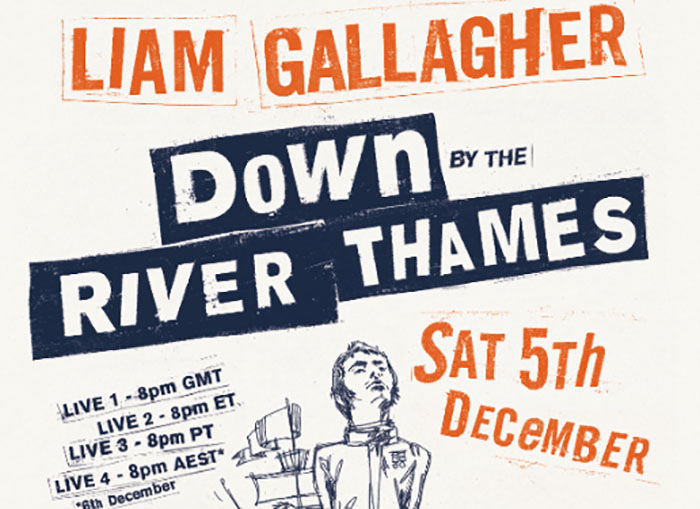 Liam Gallagher, Down By The River Thames, Music, Live Stream, TotalNtertainment