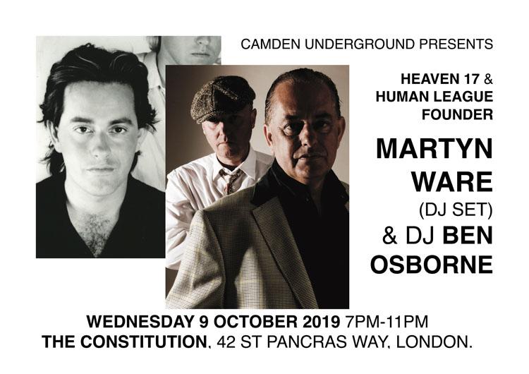 Martyn Ware, Camden Underground Presents, Music, TotalNtertainment, London