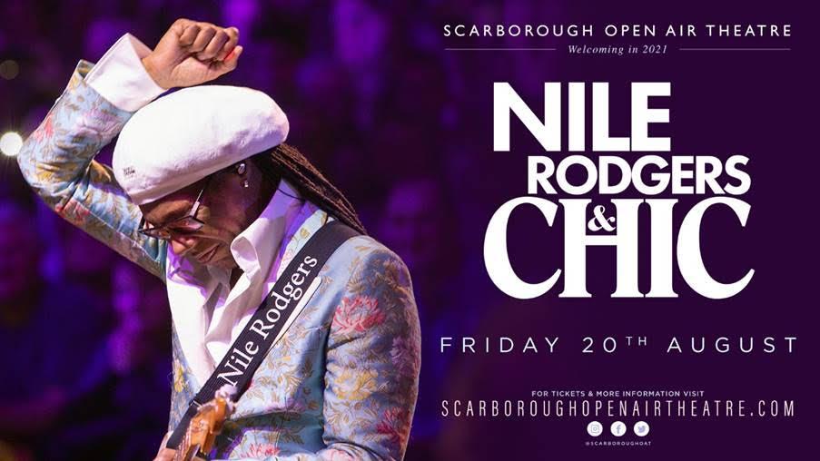 Nile Rogers, Chic, Music, Scarborough, TotalNtertainment, Open Air Theatre