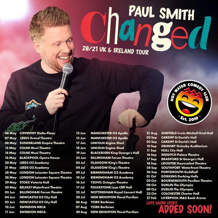 Paul Smith, Tour, Liverpool, TotalNtertainment, Comedy