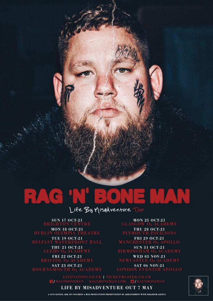 Rag'n'Bone Man, Music, Leeds, Tour, TotalNtertainment, Misadventure