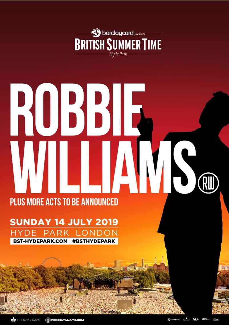 Robbie Williams, BST, BST Hyde Park, TotalNtertainment, Music, Festival