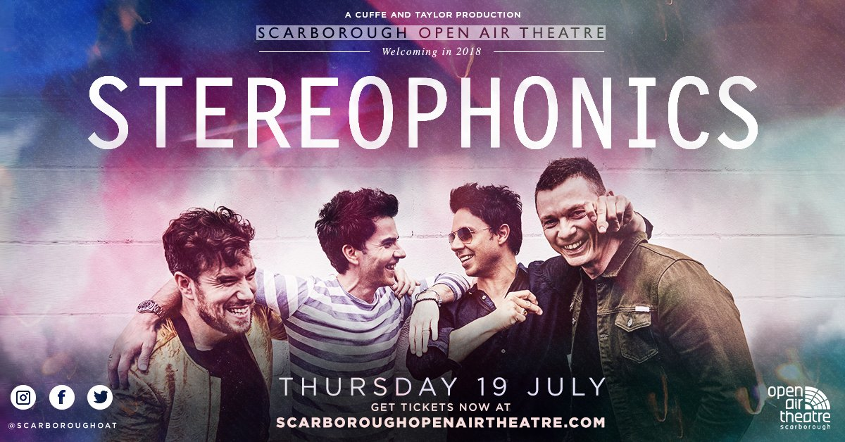 Scarborough Open Air theatre, Scarborough, Music, totalntertainment, Stereophonics