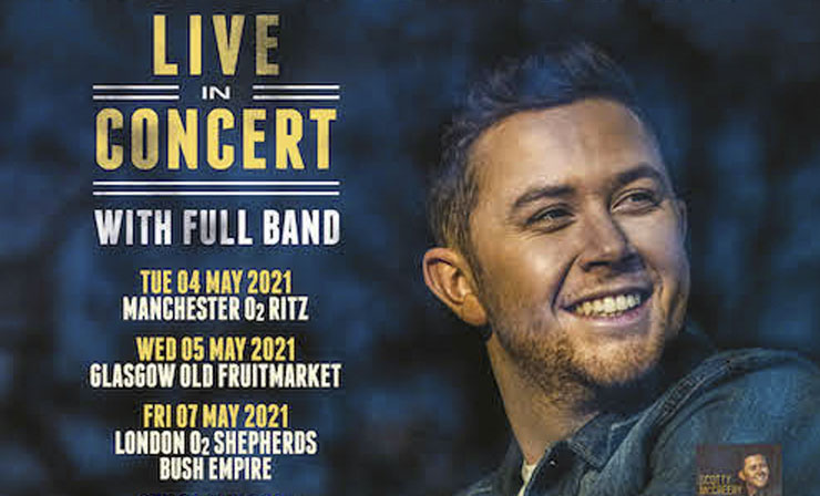 Scotty McCreery, Music, Tour, Manchester, TotalNtertainment, Rescheduled