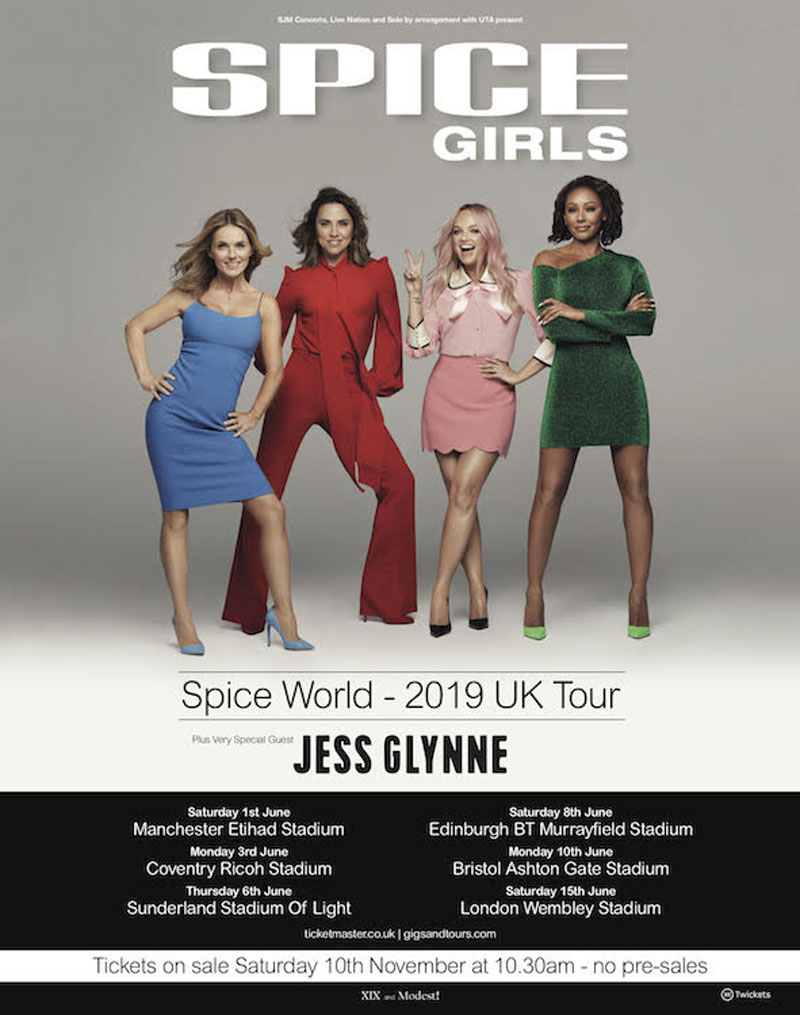 Spice Girls, Manchester, Stadiums, Tour, TotalNtertainment