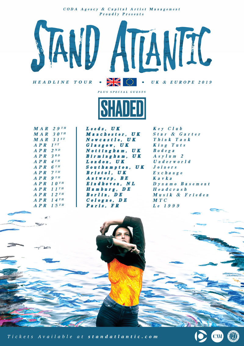 Shaded, Tour, Stand Atlantic, TotalNtertainment, Leeds