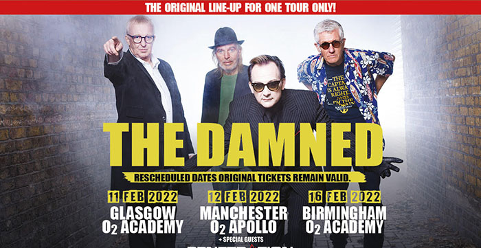 The Damned, Music, Tour, Rescheduled, TotalNtertainment