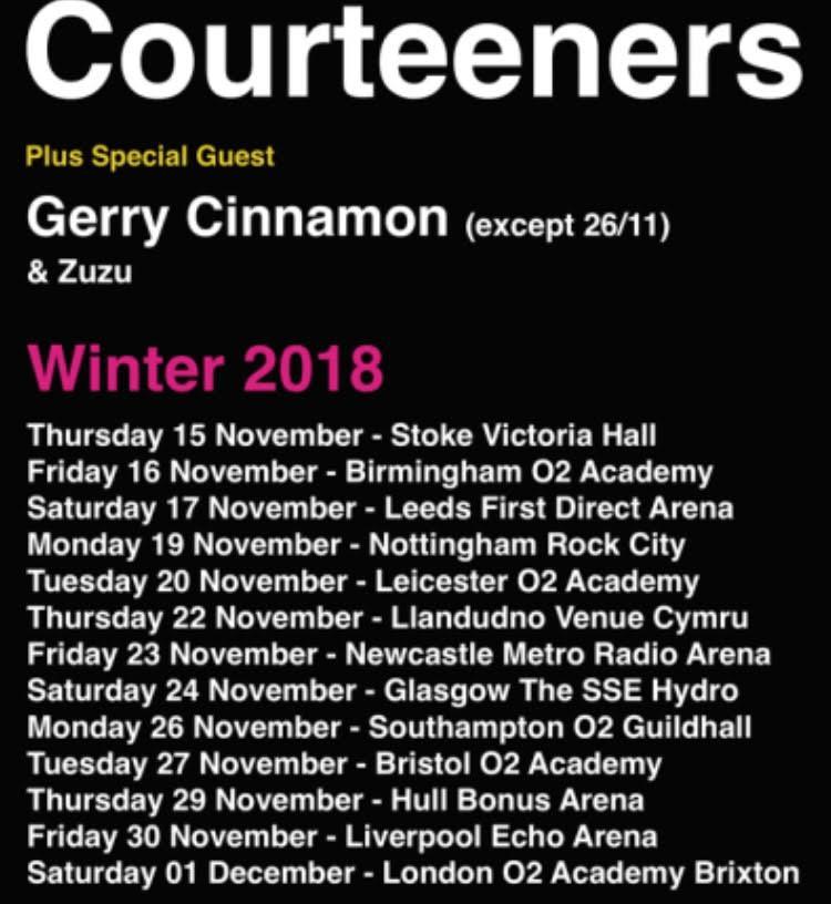 Zuzu, Courteeners, Tour, Leeds, TotalNtertainment