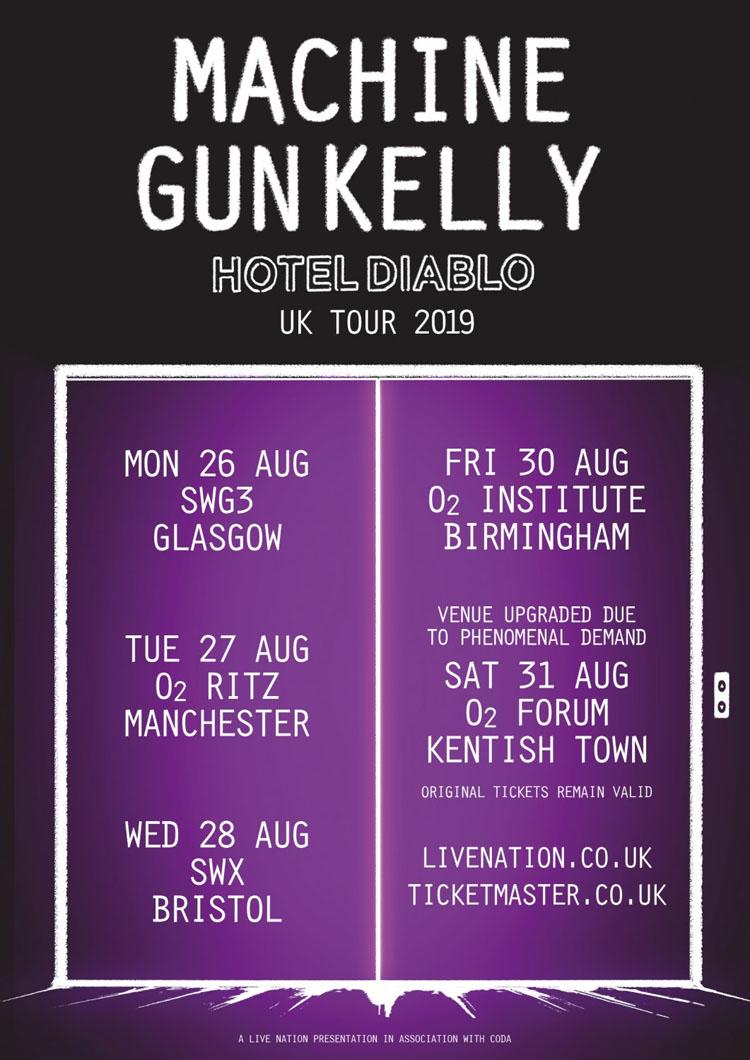 Machine Gun Kelly, Tour, Music, Manchester, TotalNtertainment