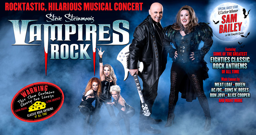 Vampires Rock, Steve Steinman, Sam Bailey, Tour, TotalNtertainment