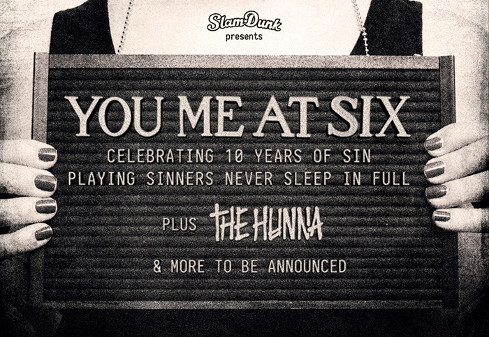 You me At Six, Sinners Never Sleep, 10th Anniversary, Music News, Live Event, New Album