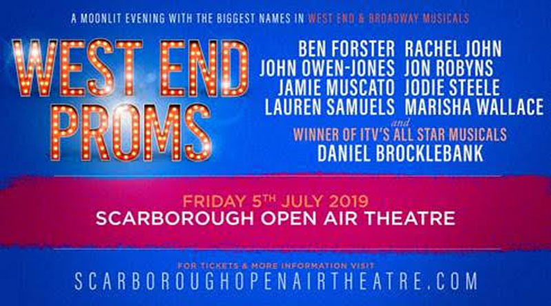 West End Proms, Scarborough Open Air Theatre, Music, TotalNtertainment, Daniel Brocklebank